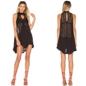 Free People Tell Tale Heart Sleeveless Tunic Black